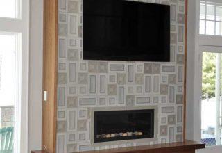 modern custom fireplace