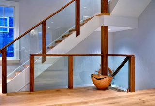 home builder and stairway woodwork