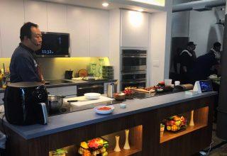 Custom built test kitchen